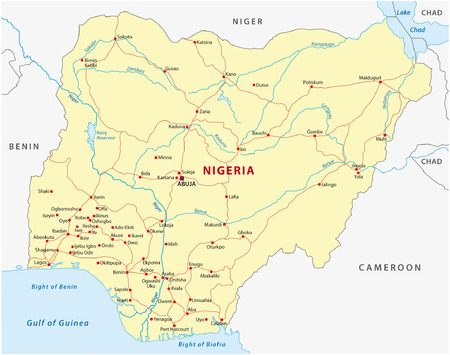 Nigeria Administrative Map Royalty Free Cliparts Vectors And Stock
