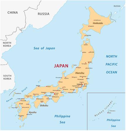 Japón mapa Foto de archivo - 33566596