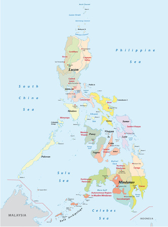 filipino: philippines administrative map