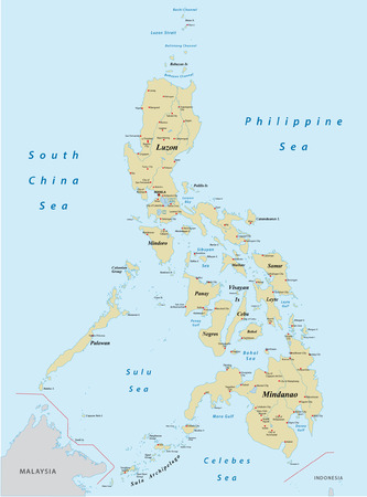 philippines map Vectores