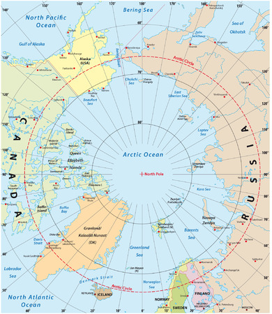 map of sweden: arctic map