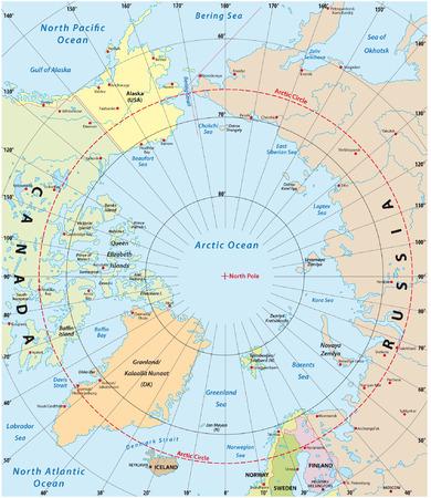 Nordpolarmeer Karte.Nordpolarmeer Seewege Karte Mit Nordwestpassage Und Nördlichen
