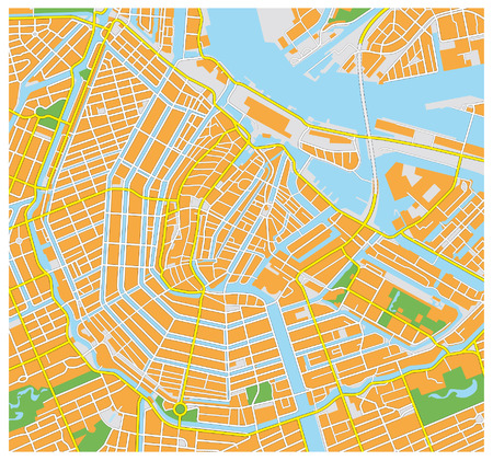 amsterdam city map Illustration