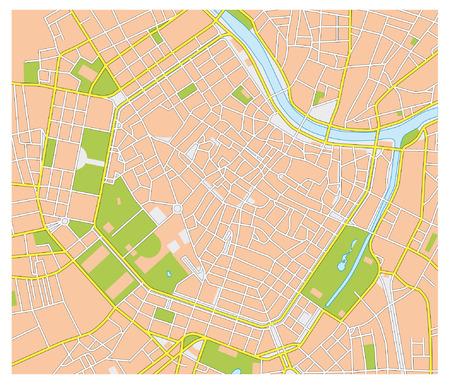 비엔나의 도시지도 스톡 콘텐츠 - 33573595