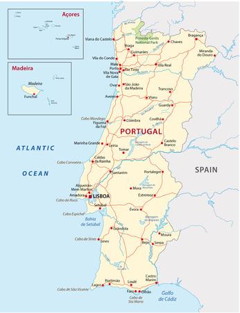 Portugal wegenkaart Stockfoto - 33573605