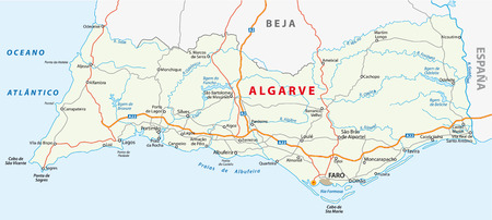 algarve road map  イラスト・ベクター素材