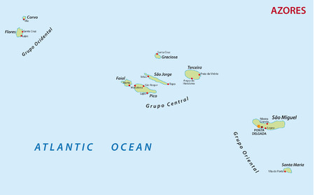 azores: azores map