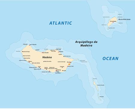 archipelago: madeira map