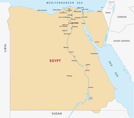 lake district: egypt map Illustration