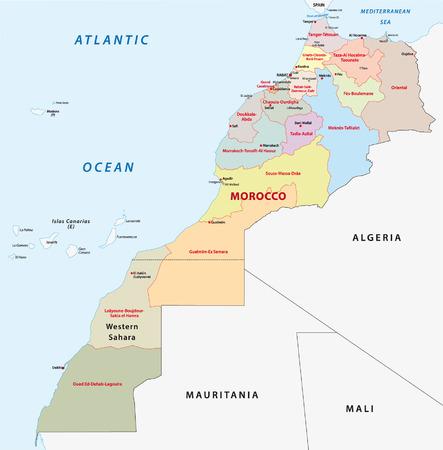 atlantic city: morocco administrative map