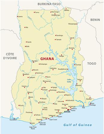ghana: carte ghana