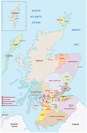 スコットランドの行政地図
