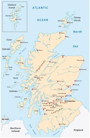 스코틀랜드지도 스톡 콘텐츠 - 33613667