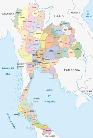 administrativo: mapa administrativo tailandia