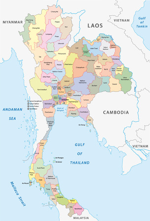 thailand administrative map Vector
