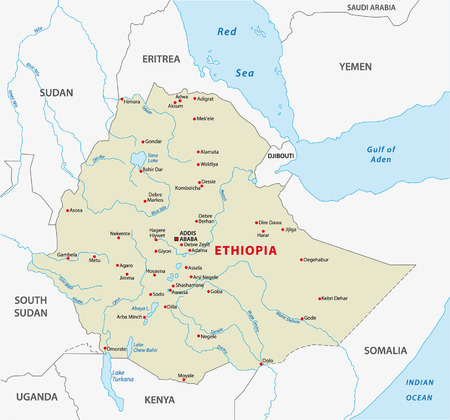 ethiopia map Stok Fotoğraf - 33614758