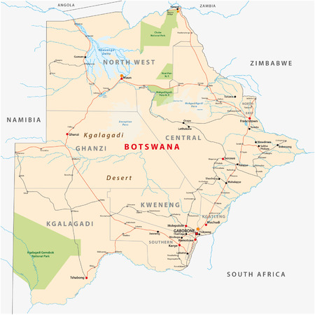 botswana: botswana map