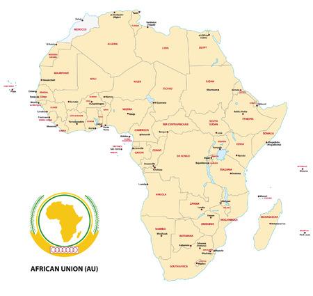 au: africa (AU) map