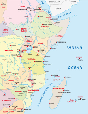 kenya: east africa map