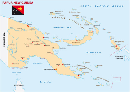 Indonesia Australia Papua New Guinea Map Royalty Free Cliparts