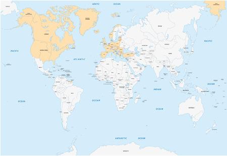 north atlantic treaty organization: member states of NATO map