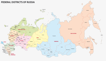 russian  russia: russia federal districts map