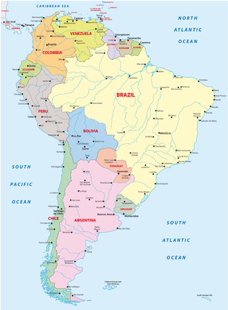 south america map Stok Fotoğraf - 33639920