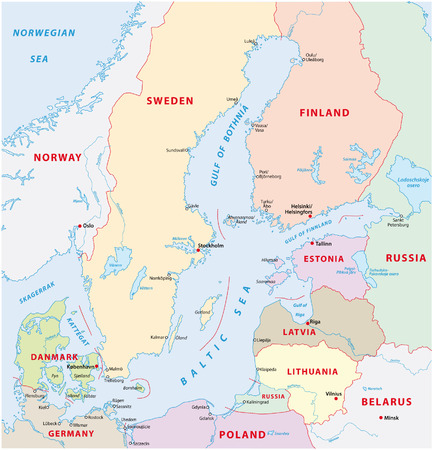 finland: baltic sea map