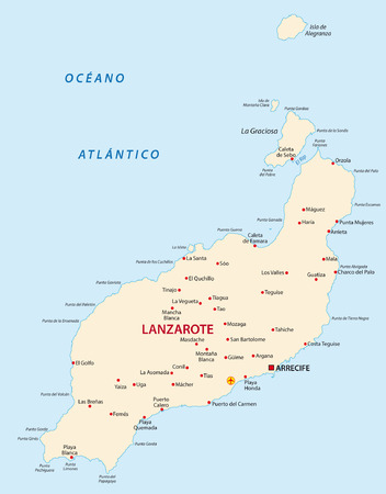 canary island: lanzarote map