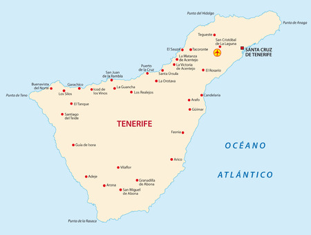 tenerife map Stock Vector - 33656783