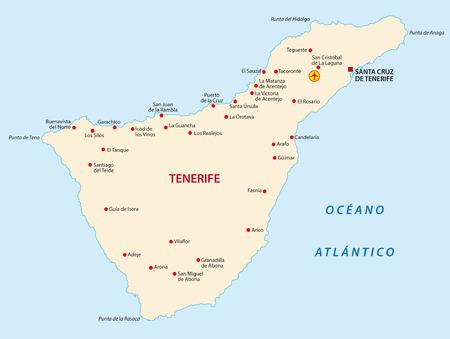 canary islands: tenerife map