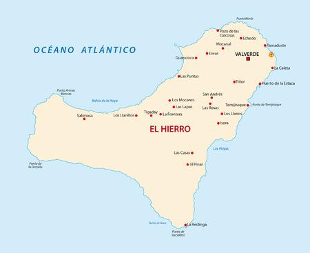 canary islands: el hierro map