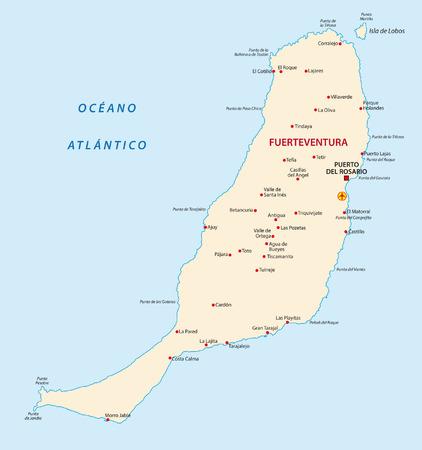canary islands: fuerteventura map