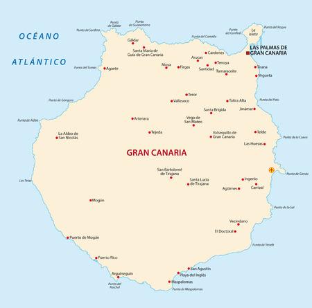 gran: gran canaria map Illustration