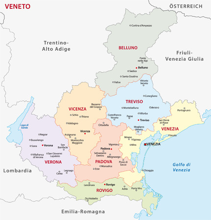 veneto administrative map