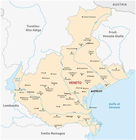 veneto: veneto map