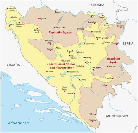 herzegovina: bosnia and herzegovina map
