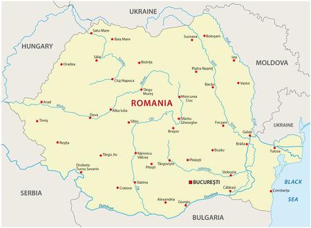 Rumänien Karte Standard-Bild - 33816582