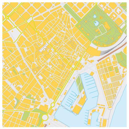 barcelona city map Vector