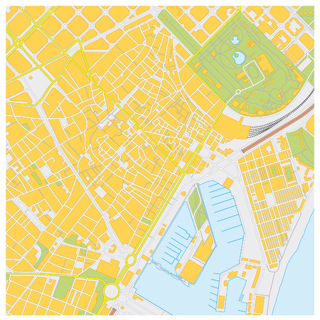 barcelone: barcelona plan de la ville Illustration