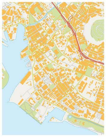 oahu: honululu downtown map