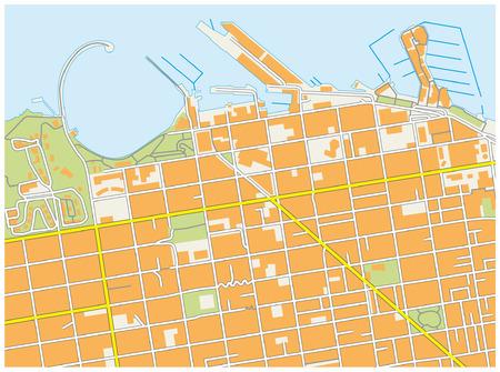 サンフランシスコの漁師か? s ワーフ地図