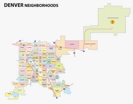 city of denver: denver neighborhood map