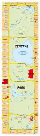 new york map: central park map, new york city