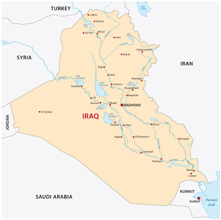 basra: iraq map