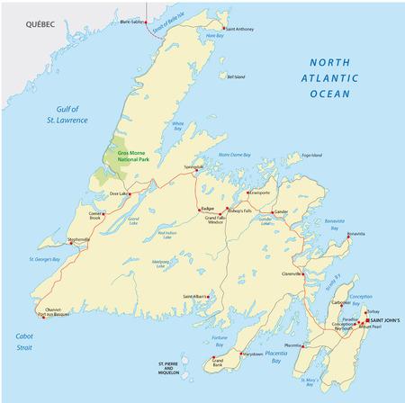 newfoundland: newfoundland road map