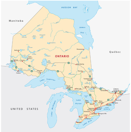 ontario road map Vettoriali