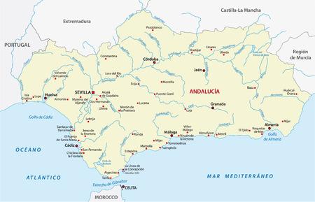 Andalusië Kaart