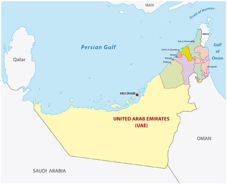 administrativo: emiratos árabes unidos mapa administrativo