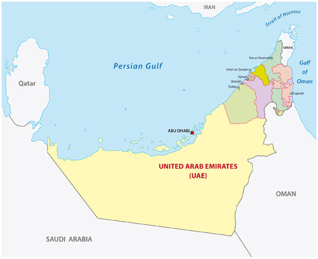 united arab emirates administrative map